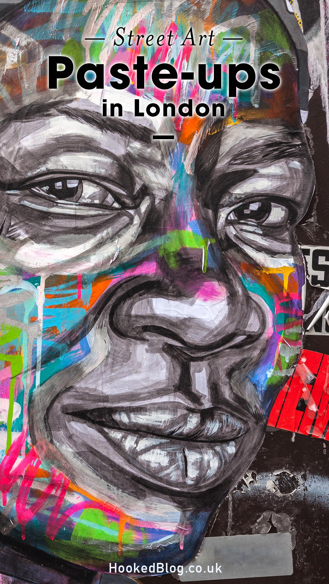 London Street Art Paste-ups in Shoreditch. #Streetart #Pasteups #Hookedblog