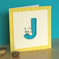 Quilling Letter J Monogram Tutorial Pattern