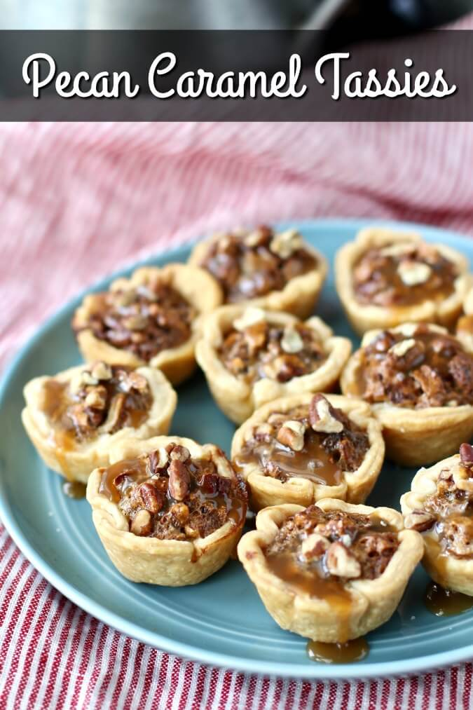 Pecan Tassies are tiny little pecan pies and a delicious Christmas must-bake dessert.