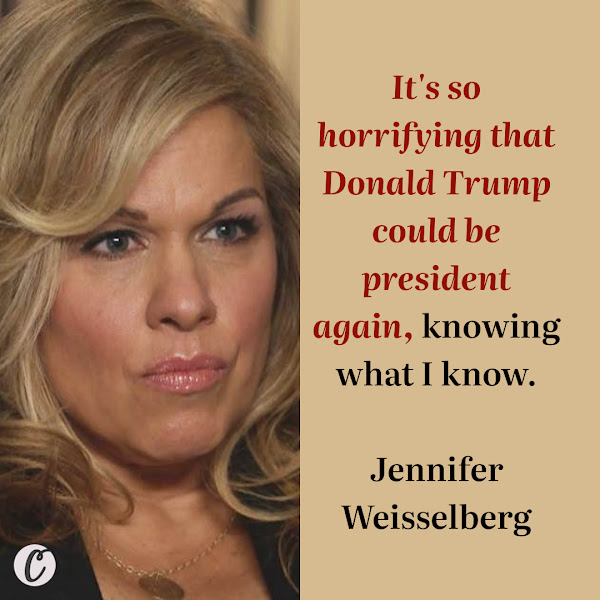 It's so horrifying that Donald Trump could be president again, knowing what I know. — Jennifer Weisselberg, Allen Weisselberg's ex-daughter-in-law