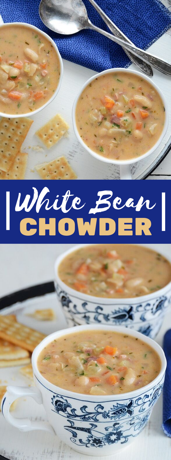 White Bean Chowder #vegetarian #vegetables