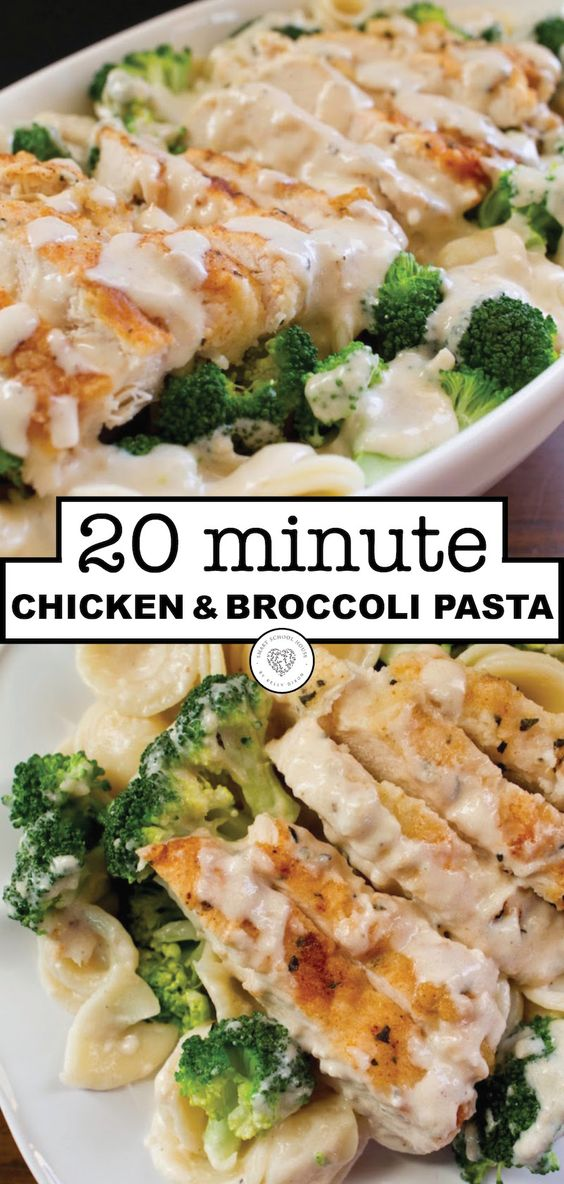Amazing 20 Minutes Chicken and Broccoli Pasta