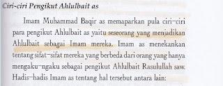 Penganut Syiah Adalah yang Menjadikan Ahlulbait Sebagai Imam Mereka