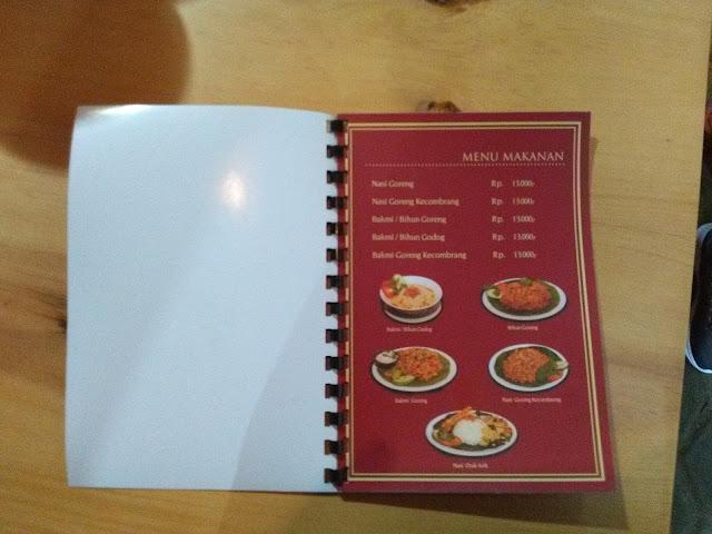 Daftar Menu Kedai Nyah Tan Li
