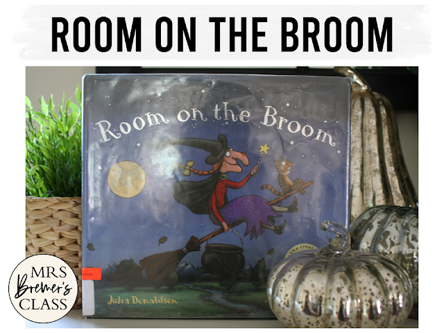 Room on the Broom book study unit with Common Core literacy companion activities and craftivity for Halloween in Kindergarten and First Grade