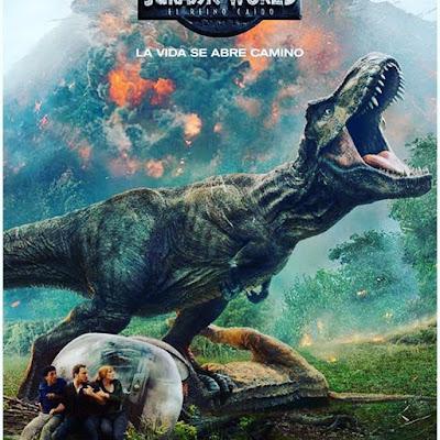 Jurassic World: El reino caído,Jurassic World: Fallen Kingdom, nos vamos al cine, película, cine, cartelera, dinosaurios,
