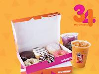Dunkin Donuts Promo Spesial Ulang tahun, Diskon 34% Lho