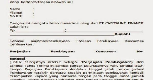 Contoh Format Surat Tanda Terima Uang Dalam Berbagai Hal