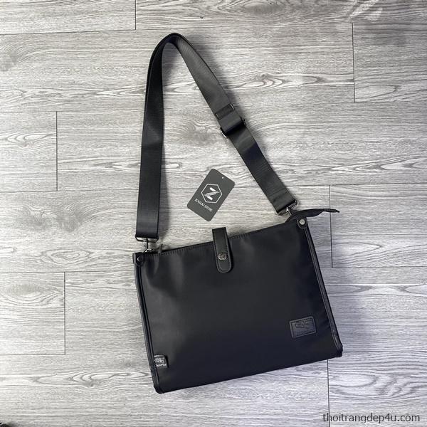 Túi đeo chéo vải dù chống nước thời trang DNM024D (Đen)