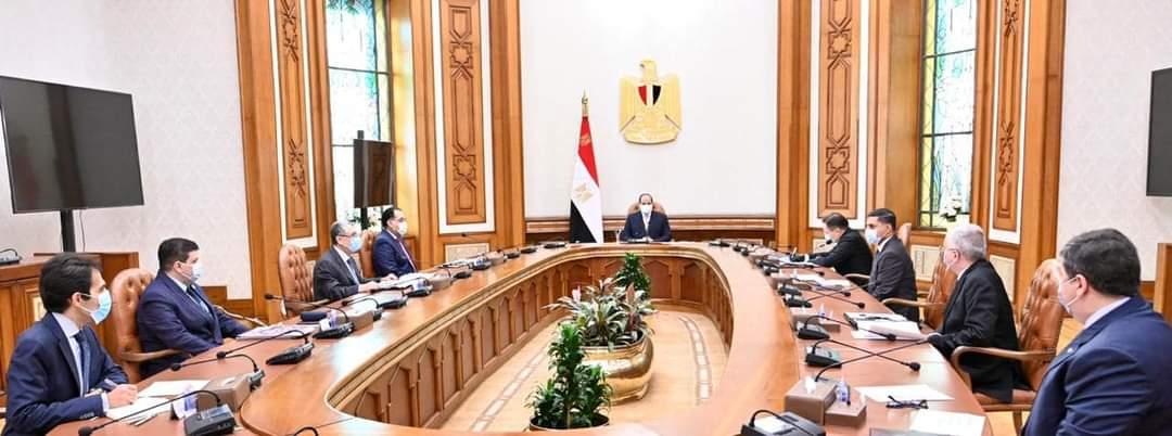 الرئيس السيسي  يتابع الموقف التنفيذي لمحطة الضبعة النووية