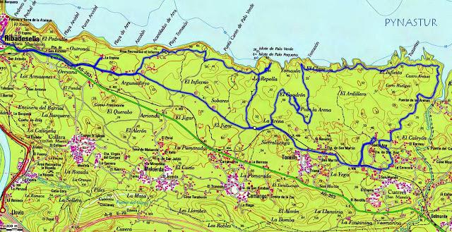 Senda Costera de Ribadesella al Área Recreativa de Guadamía en Btt
