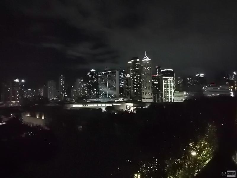 Night mode in a dark scene