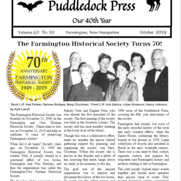 The October Edition of the Puddledock Press is Available Online