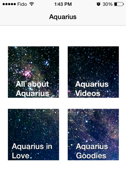 All About Aquarius - an iPhone App