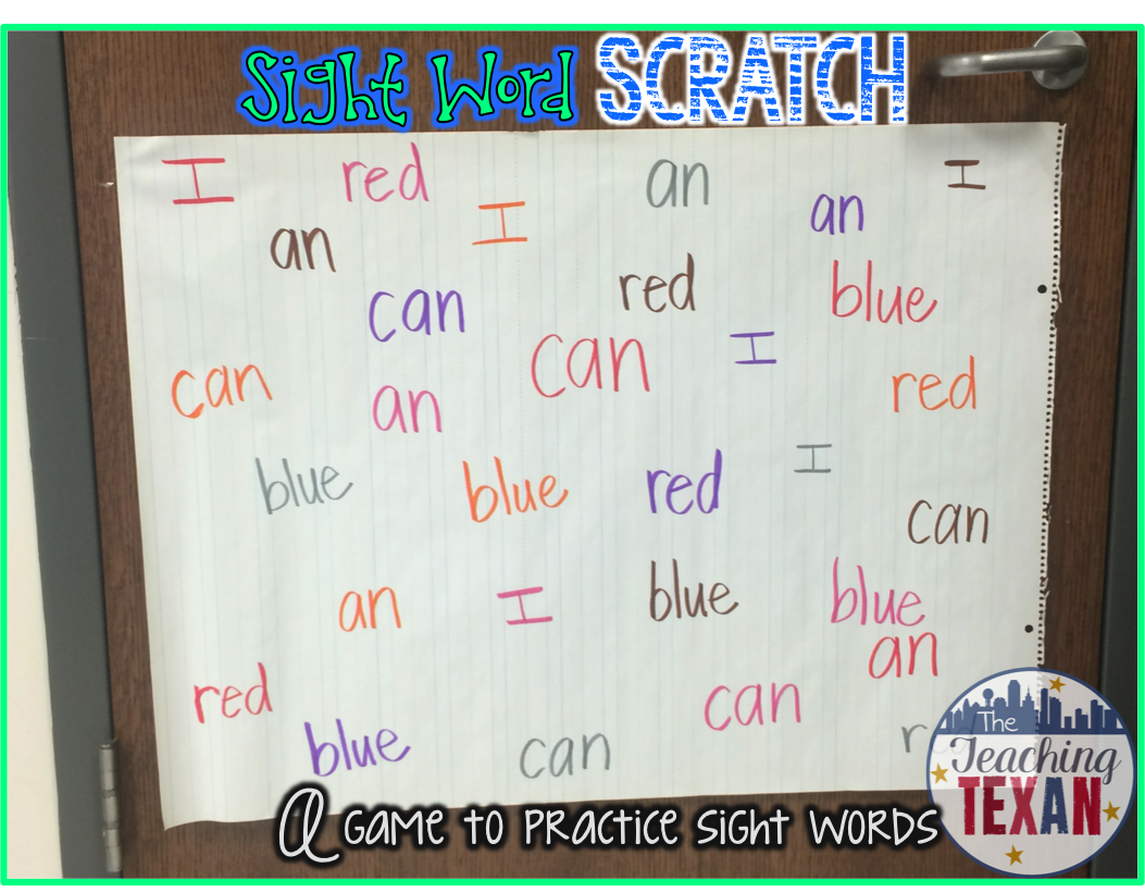 Monday Motivation: Sight Word Scratch!