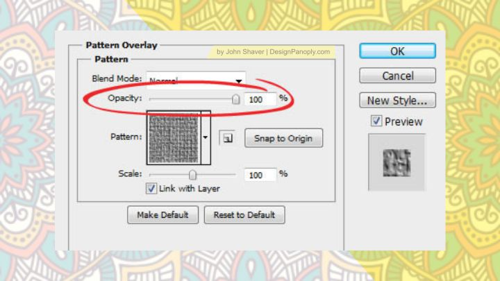 Cara Menggunakan Pattern Overlay di Photoshop Layer Style