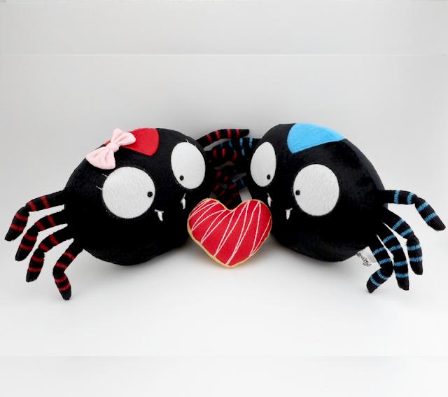 Pareja de boda personalizada, arañas de peluche guyuminos noviosregalo aniversario amor tarantula kawaii tierno