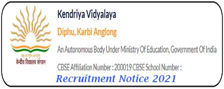 KV Diphu Recruitment 2021