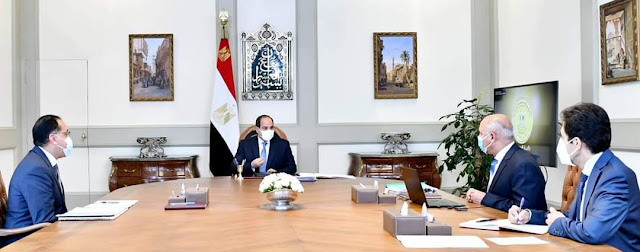 """الرئيس السيسي يوجه باضافة ميناء جديد """"المكس"""" ما بين مينائي الإسكندرية والدخيلة"""