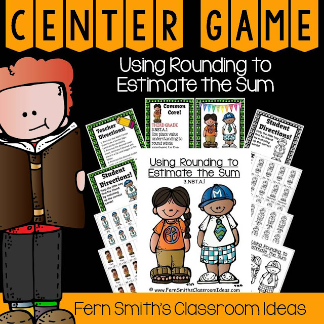Fern Smith's Classroom Ideas Rounding to Estimate the Sum Center Games  at TeacherspayTeachers, TpT.