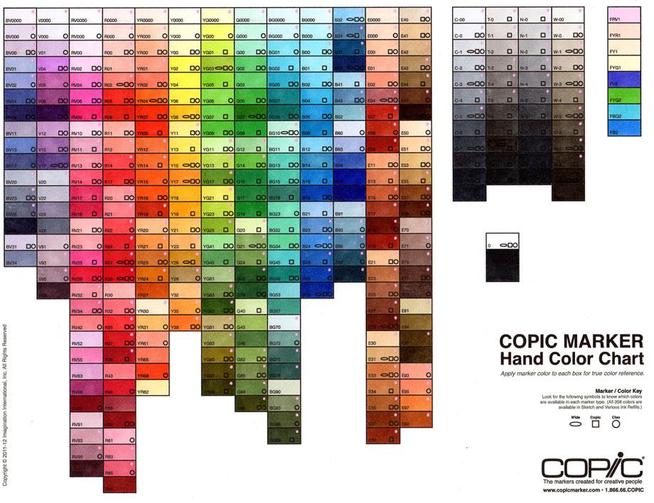 copic marker chart - Timiz.conceptzmusic.co