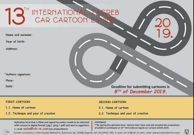13th International Zagreb Car Cartoon Exhibition 2019