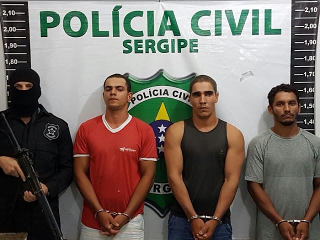 Trio acusado de assaltar e estuprar vítimas é preso em Glória