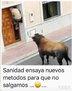 Toro mirando joven sujeto en puerta