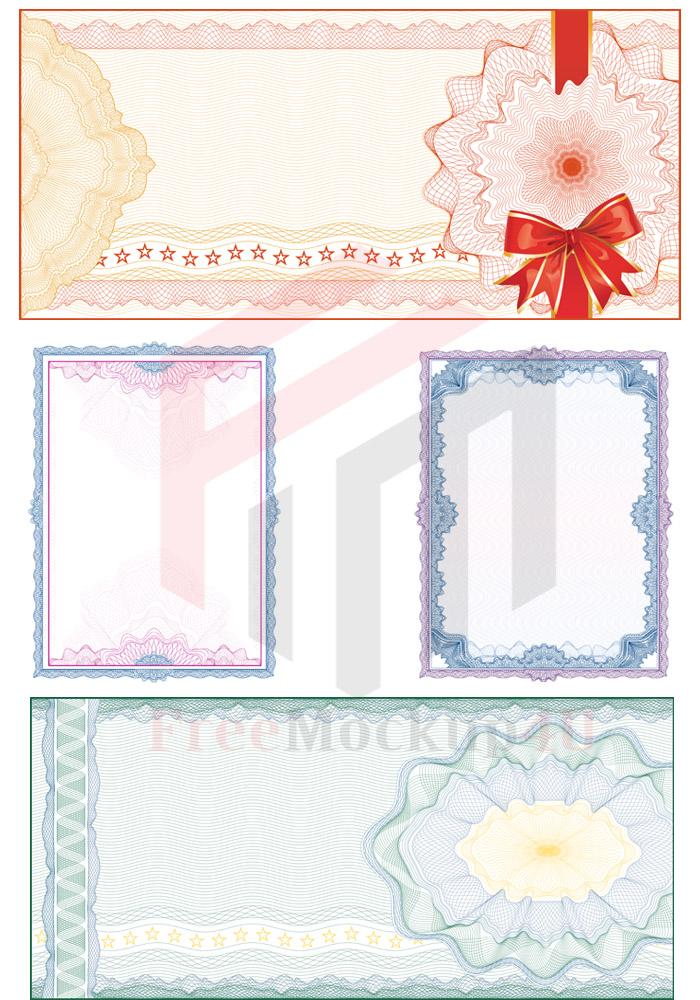 Certificate Diploma Vector Card Bundle Pack