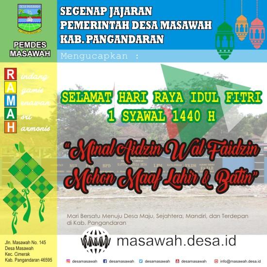 Selamat Hari Raya Idul Fitri 1 Syawal 1440 Hijriyah
