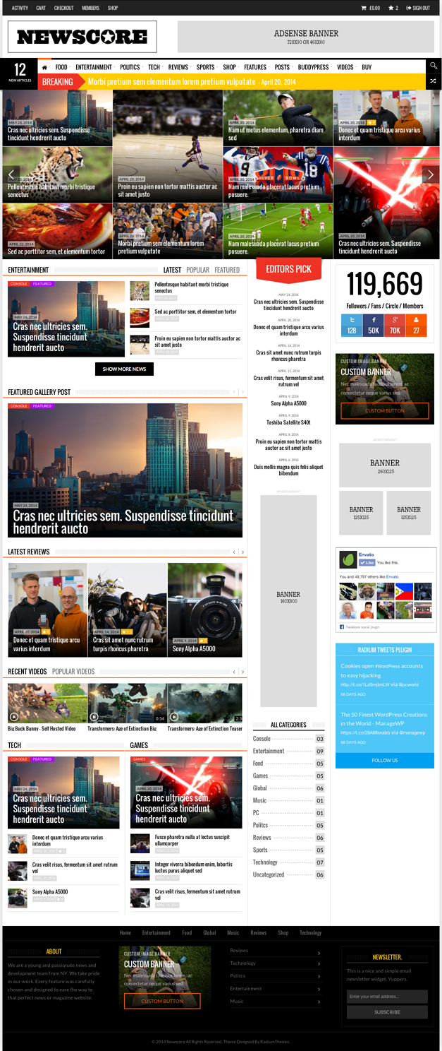 wp magazine template