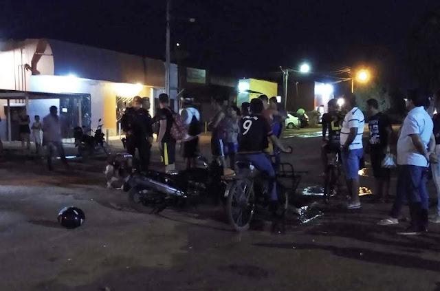 Colisão entre motocicletas deixam quatro pessoas lesionadas