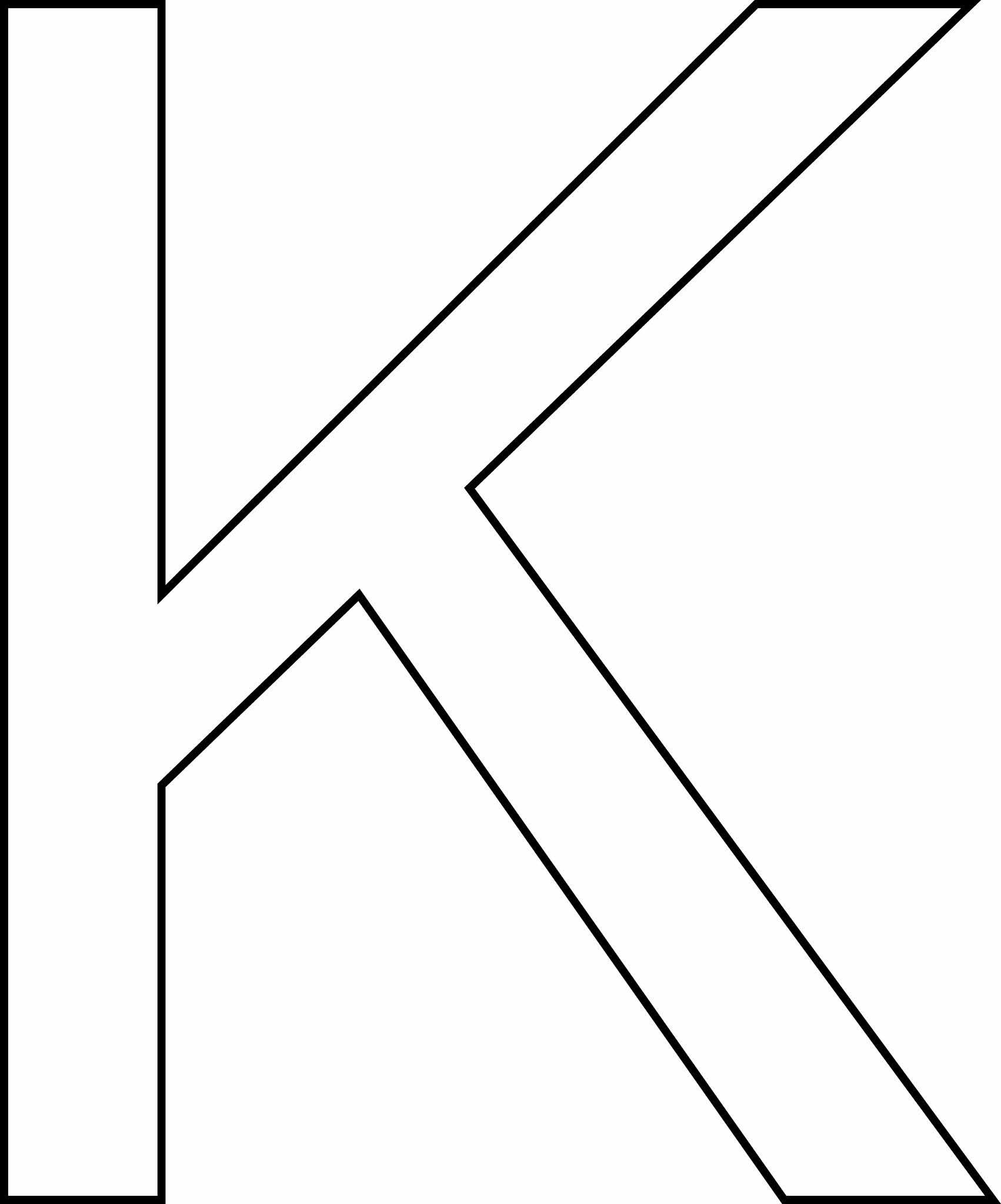 Letra K - maiúscula para imprimir