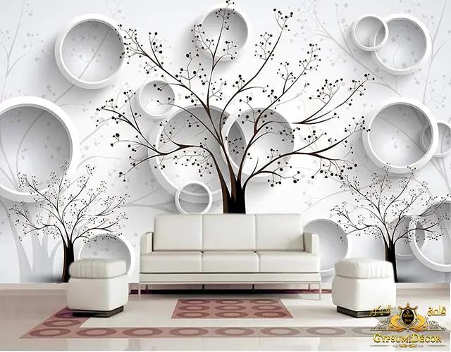 عيوب ورق الجدران مع الوان الدهانات
