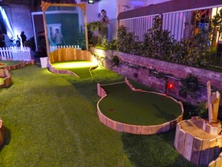 Swingers Crazy Golf in Shoreditch, London