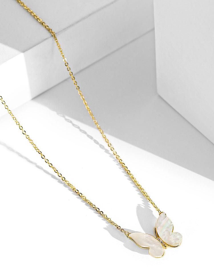 唯美貝殼蝴蝶項鍊