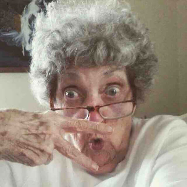 20 Hilarious Photos Of Grandparents Being Awesome - My Best Friend's 83-Year-Old Grandma Made Herself A Profile On Facebook. Here Is Her Profile Picture