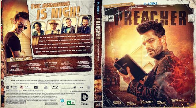 Preacher Season 1 Bluray Cover