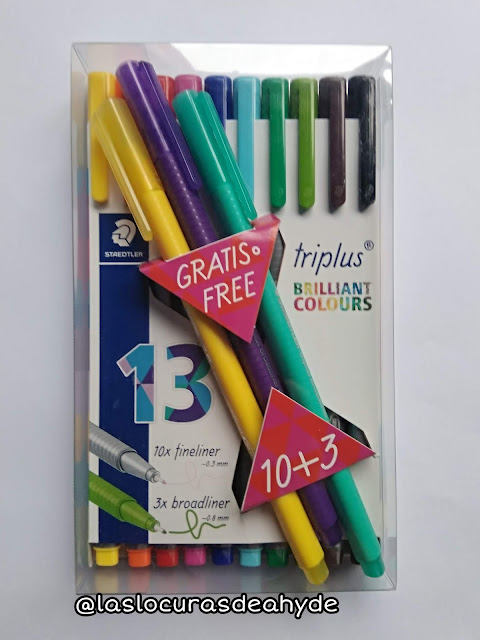 Rotuladores Staedtler 10 colores 0.3mm mas 3 0.8mm