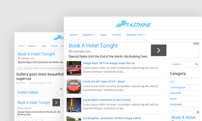 Fasthink Blogger Template
