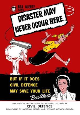 Canada Bea Alerte poster for Civil Defense