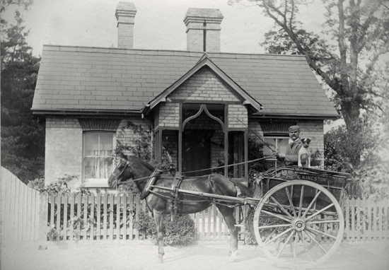 Photograph of Mr G. Kingston the piano tuner at Hawkshead Lodge in the 1900s - Image from P. Grant / G. Knott