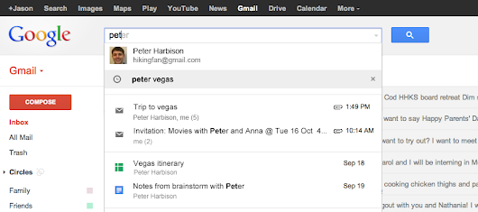 Search emails, Google Drive, Calendar and more as you type
