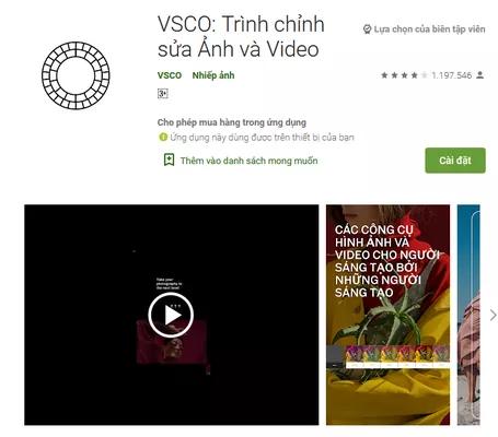 phần mềm VSCO