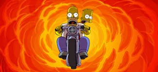 Motorcycle The Simpsons Movie 2007 animatedfilmreviews.filminspector.com