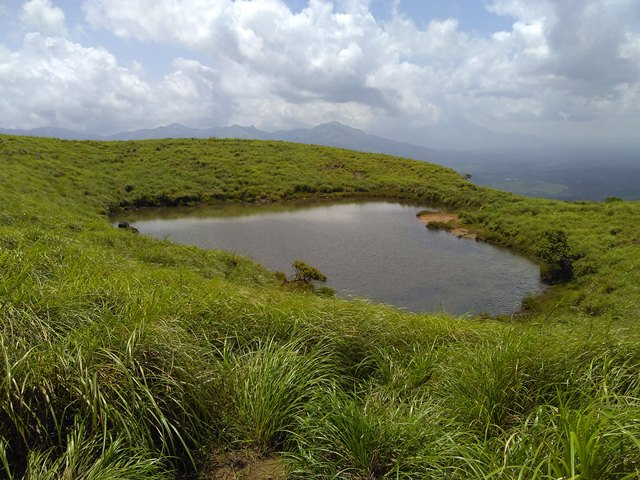 Chembra Peak Trekking - The heart Pool