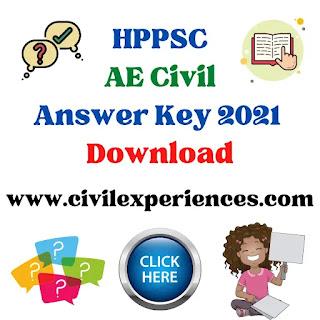HPPSC AE Answer Key 2021 | Himachal HPPSC AE Answer Key Download