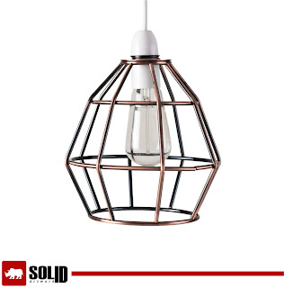 Modern Copper Metal Wire Frame Ceiling Pendant Light