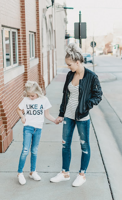 mom and me outfit mommy daughter blonde style ideas blogger mini me little girl