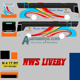 Livery bus titanium trisakti rosalia indah